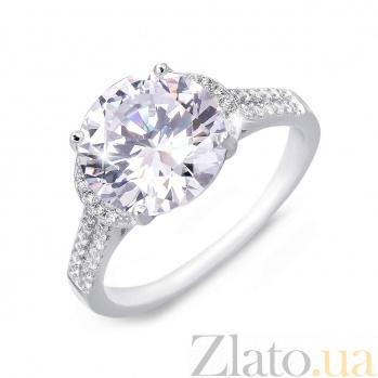 Серебряное кольцо Клер с белым цирконом AQA--R0685-R