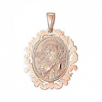 Ладанка из красного золота Божия Матерь Семистрельная 000141664