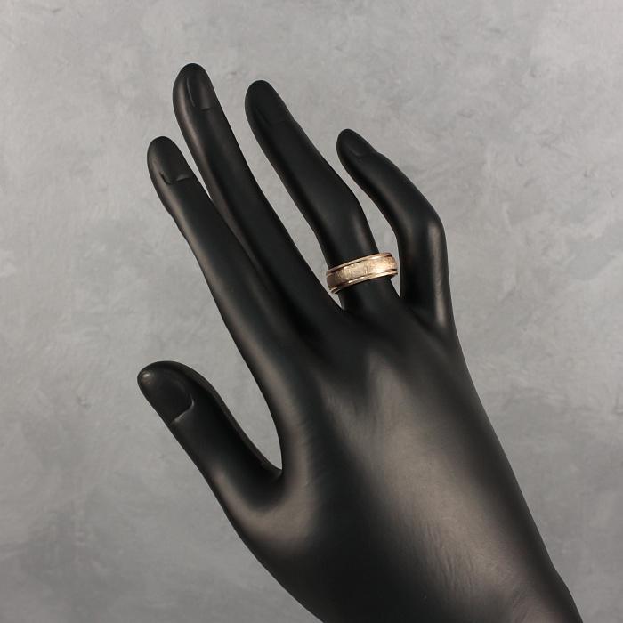 Золотое обручальное кольцо с матированной поверхностью 000102263 000102263