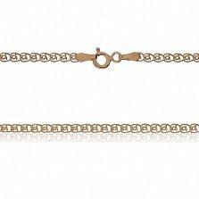 Серебряная цепь Аурелия с позолотой