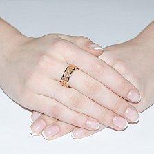 Золотое обручальное кольцо Ренессанс с бриллиантами