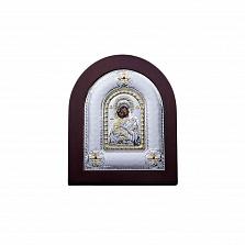 Владимирская икона из серебра с позолотой в дереве