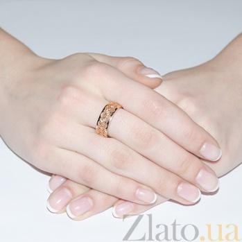 Золотое обручальное кольцо Ренессанс с бриллиантами OB2104брил