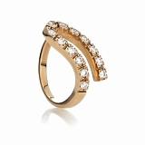 Золотое кольцо с фианитами Корделия