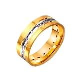 Золотое обручальное кольцо Линия судьбы
