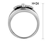 Кольцо из белого золота Сакраменто с агатом и бриллиантами