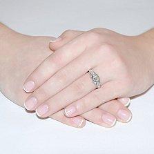 Кольцо из белого золота с бриллиантами Замок волшебства