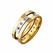 Золотое обручальное кольцо Предвестник счастья
