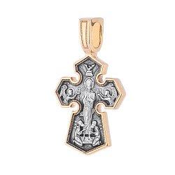 Серебряный крестик Икона Божией Матери Седмиезерная 000054661