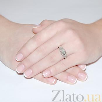 Кольцо из белого золота с бриллиантами Замок волшебства R0104