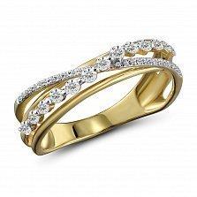 Кольцо из желтого золота Ксантия с бриллиантами