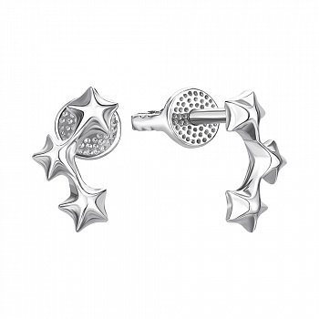 Серебряные серьги-пуссеты 000146061
