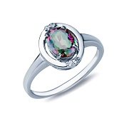 Серебряное кольцо Бриджит с мистик топазом