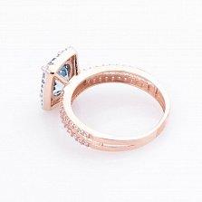 Золотое кольцо Миранда с топазом и фианитами