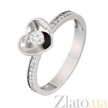 Золотое кольцо с бриллиантами Преданность KBL--К1838/бел/брил