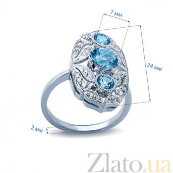 Кольцо с топазами и бриллиантами Felice AQA--к011бT