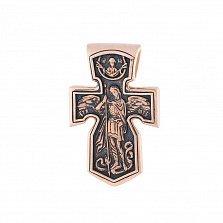 Крест из красного золота Победитель дьявола