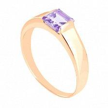 Золотое кольцо с аметистом Аделина