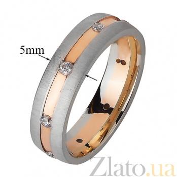 Золотое обручальное кольцо Море романтики TRF--4421401