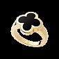 Кольцо из желтого золота с черным ониксом Alhambra R-VCA-Algamra-E-onyx(B)