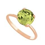 Золотое кольцо с хризолитом Лора