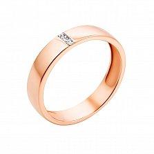 Кольцо из красного золота Счастливый выбор с бриллиантами
