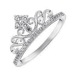 Серебряное кольцо с фианитами 000148495