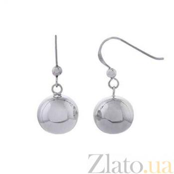 Серебряные серьги Шар AQA--120540135/14