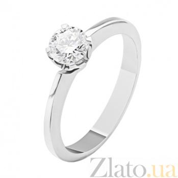 Кольцо из белого золота с бриллиантом Изящный стиль KBL--К1676/бел/брил