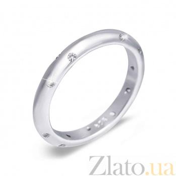 Серебряное обручальное кольцо Сияние счастья 000015731