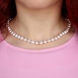 Бусы из жемчуга Pearl Star с серебряной застёжкой