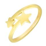 Кольцо Две звезды в желтом золоте
