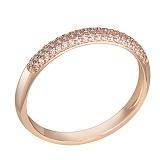 Кольцо в красном золоте Джантайн с бриллиантами