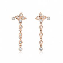 Серьги из розового золота с бриллиантами Дивный рассвет