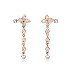 Серьги из розового золота с бриллиантами Дивный рассвет 000008548