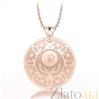 Подвес с бриллиантами  из розового золота Талисман: Веры 5787