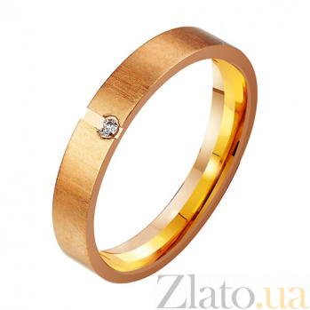 Золотое обручальное кольцо с фианитом Фибры души TRF--412225