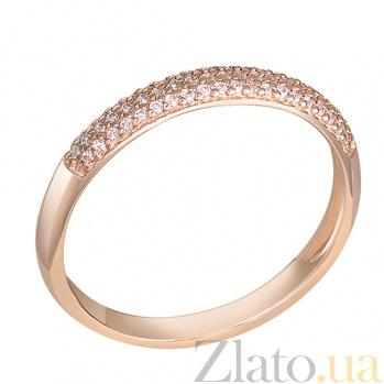 Кольцо в красном золоте Джантайн с бриллиантами 000031136