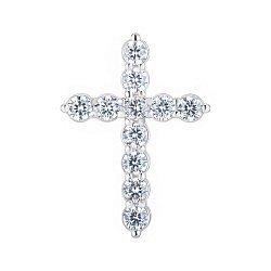 Серебряный крестик с фианитами 000148228
