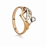 Золотое кольцо с фианитами Глория