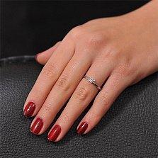 Золотое кольцо с кристаллом Swarovski Единственная