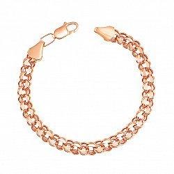 Браслет из красного золота в плетении бисмарк 000136649