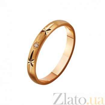 Золотое обручальное кольцо с фианитами Семейная традиция TRF--4121172