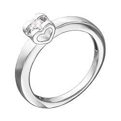 Кольцо из белого золота с бриллиантом 000139954