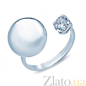 Серебряное кольцо с фианитом Шарин 000027152