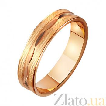 Золотое обручальное кольцо Семейный очаг TRF--411045