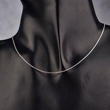 Серебряная цепочка Беверли в якорном плетении