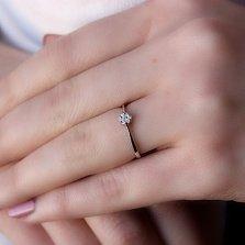 Золотое кольцо Ланниа в белом цвете с бриллиантами