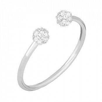 Серебряное кольцо Госсамер с цирконием 000030915