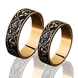 Золотое обручальное кольцо Долина цветов